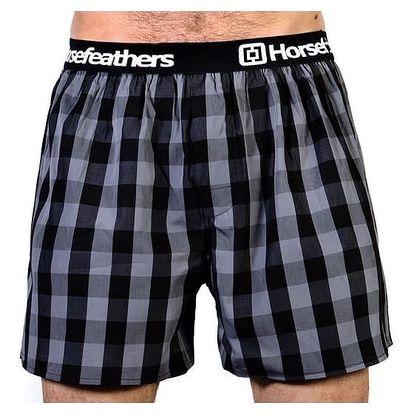 Pánské Trenky Horsefeathers Apollo Boxer Shorts Gray M