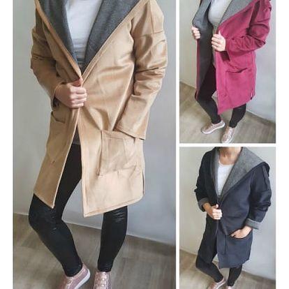 Dámský kabátek v semišovém vzhledu Nancy