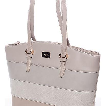 Elegantní dámská kabelka přes rameno šedá - David Jones Maree šedá