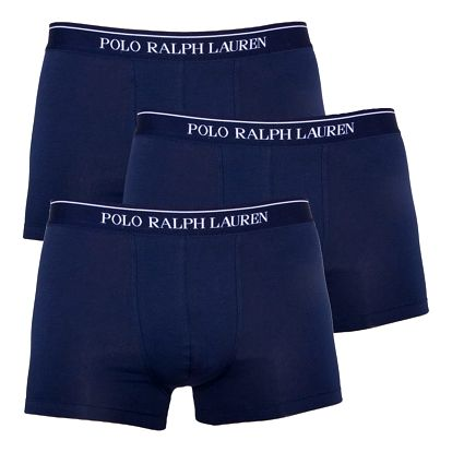 3PACK pánské boxerky Ralph Lauren tmavě modré S