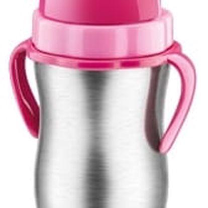TESCOMA dětská termoska s brčkem BAMBINI 300 ml, nerez, růžová