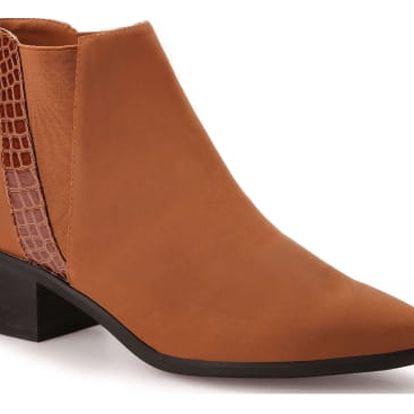 Dámské hnědé kotníčkové boty Natasha 974