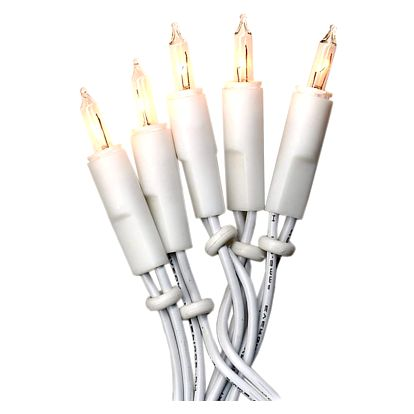 STAR TRADING Bílý světelný řetěz na vánoční stromeček 4 m, bílá barva, plast