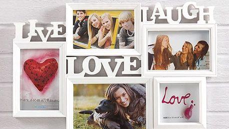 Fotorámeček Live Laugh Love 5 fotek