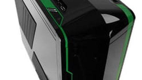 NZXT Phantom, černá se zelenými pruhy - PHAN-002GR