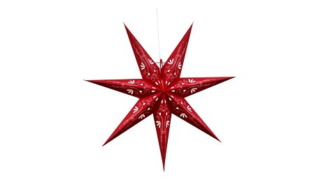 STAR TRADING Závěsná svítící hvězda Metasol Red 70 cm, červená barva, papír