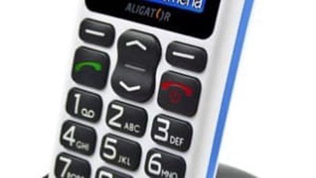 Mobilní telefon Aligator A430 (A430WB) bílý/modrý
