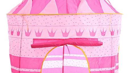 Dětský stan zámek růžový