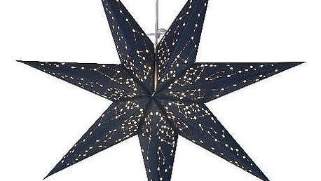 STAR TRADING Závěsná svítící hvězda Galaxy 60 cm, modrá barva, papír