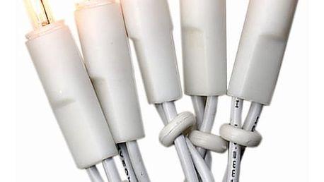 STAR TRADING Bílý světelný řetěz na vánoční stromeček 6,6 m, bílá barva, plast
