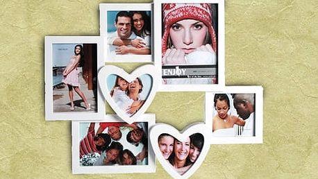 Romantický Fotorámeček se Srdíčky 7 fotek