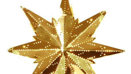 STAR TRADING Plechová závěsná hvězda Brass, žlutá barva, kov