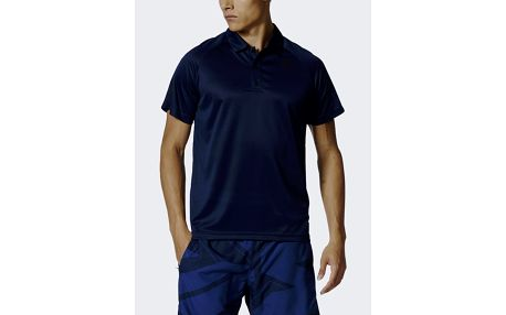 Tričko adidas Performance D2M POLO Modrá