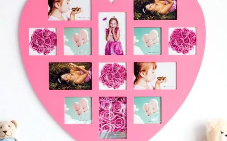 Fotorámeček Pink Heart Homania 13 fotek