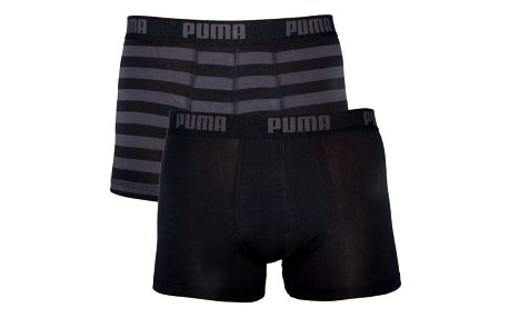 Boxerky Puma STRIPE 1515 BOXER 2 Pack black