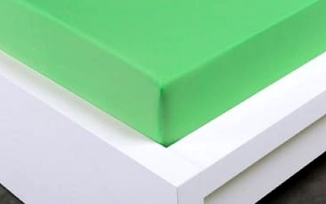 XPOSE ® Bambusové jersey prostěradlo jednolůžko - letní zelená 90x200 cm