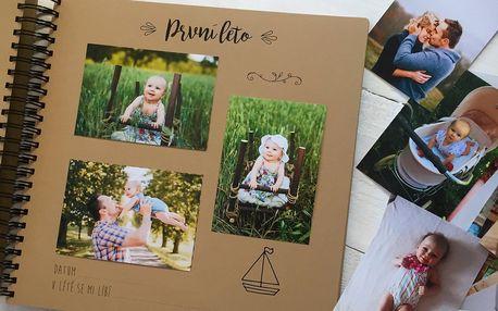 Krásné fotoalbum či kartičky na focení dítěte