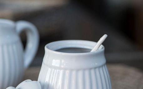 IB LAURSEN Cukřenka Mynte White, bílá barva, keramika