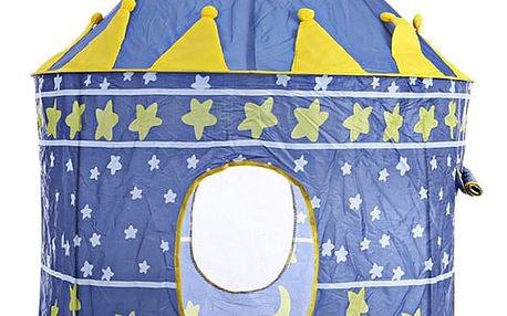 Dětský stan zámek modrý