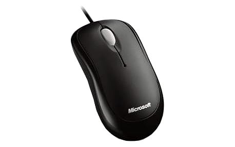 Microsoft Basic Optical Mouse, černá - P58-00059