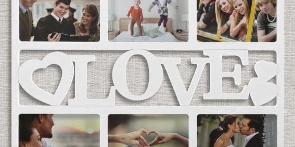 Fotorámeček se Srdíčky Love 6 fotek