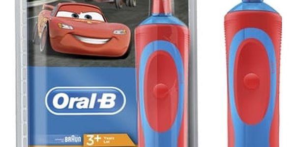 Zubní kartáček Oral-B Vitality Cars červený/modrý