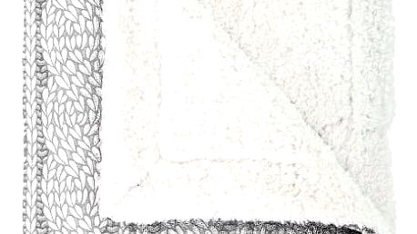 Mistral home Pléd Mistral Home beránek Cable Knit šedá 150x200cm