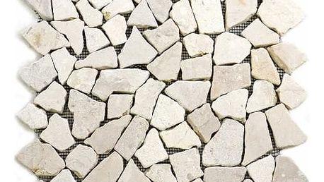 Divero Garth 604 Mramorová mozaika krémová - 1 m2