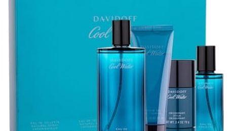 Davidoff Cool Water dárková kazeta pro muže toaletní voda 125 ml + deostick 75 ml + sprchový gel 75 ml + toaletní voda 40 ml