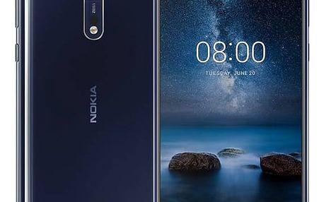 Mobilní telefon Nokia 8 Dual SIM (11NB1L01A12) modrý + Doprava zdarma