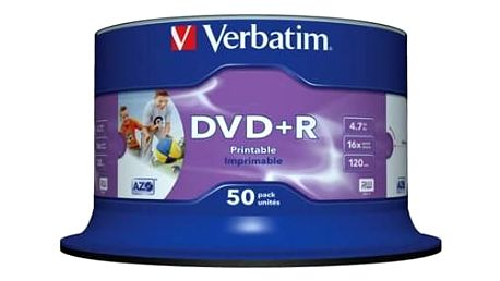 Médium Verbatim DVD+R 4,7GB 16x Printable 50-cake