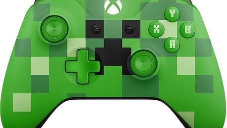 Xbox ONE S Bezdrátový ovladač, Minecraft Creeper (PC, Xbox ONE) - WL3-00057
