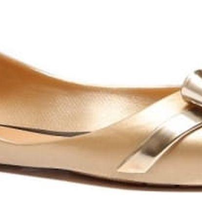 Dámské zlaté baleríny Candy 072
