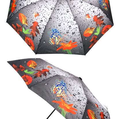 Dámský deštník Rainy weather motýl
