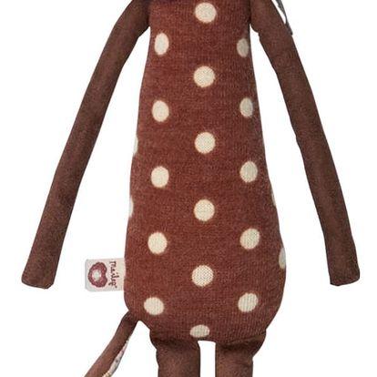 Maileg Textilní Bambi Sleepy - Wakey - medium, hnědá barva, textil