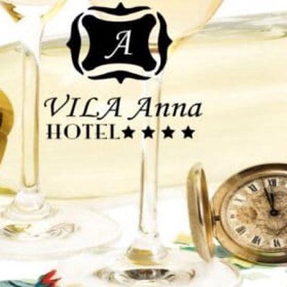 Dokonalý Silvestr v hotelu Vila Anna **** v srdci Trenčianských Teplic s welness, polopenzí a slavnostní večeří