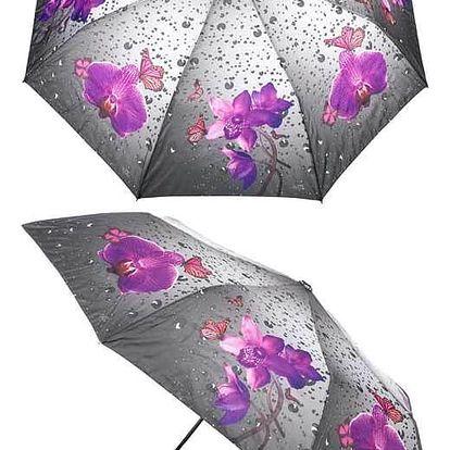 Dámský deštník Rainy weather orchideje