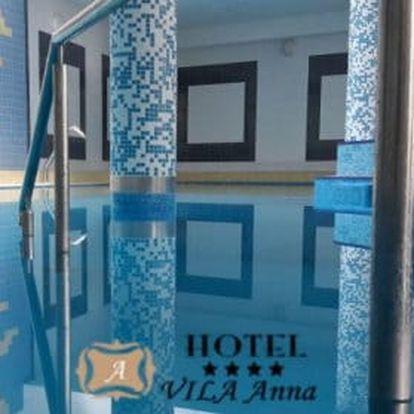 Trenčianske Teplice s polpenzí a skvělým wellness nabízí hotel Vila Anna ****