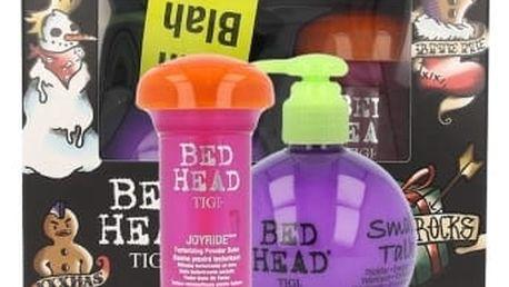 Tigi Bed Head Small Talk dárková kazeta pro ženy krém pro objem vlasů 200 ml + pudrový balzám na vlasy Bed Head Joyride Texturizing Powder Balm 58 ml