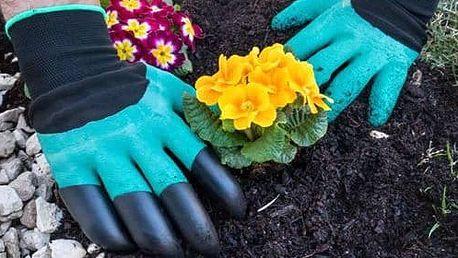 Zahradnické rukavice se 4 drápy