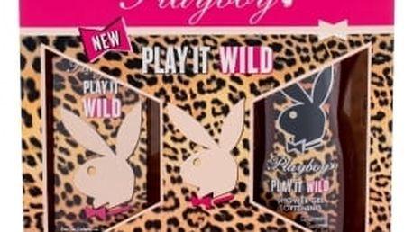 Playboy Play It Wild For Her dárková kazeta pro ženy toaletní voda 30 ml + sprchový gel 250 ml