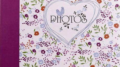 KARPEX Fotoalbum na růžky 30x30cm 100 stran Květinové pole – fialová