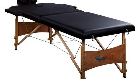 MAX 1332 Přenosné masážní lehátko černé 184 x 70 cm