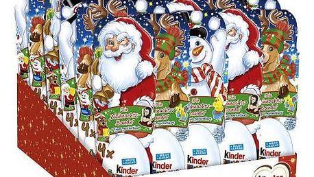 Vánoční Kinder surprise vajíčko 4 ks
