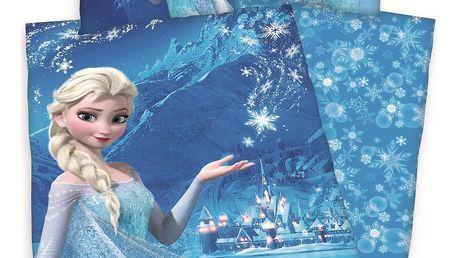 Herding Dětské bavlněné povlečení Ledové království Frozen Kouzlo vločky, 140 x 200 cm, 70 x 90 cm