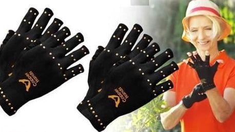 Měděné kompresní zdravotnické rukavice proti artritidě