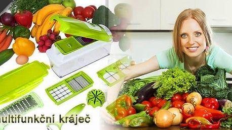 14ti dílný multifunkční kráječ na zeleninu.Skvělý kuchyňský pomocník.Kvalitní plast, čepele z nerez oceliza úžasnou cenu.