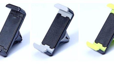 Praktický držák telefonu do auta nebo GPS, s rotací 360°, univerzální rozměr a na výběr různé barevné motivy.