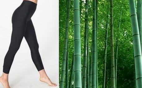 Dámské bambusové termo legíny s vysokým pasem