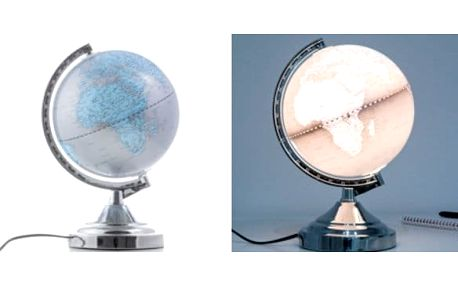 Dotyková lampa zeměkoule
